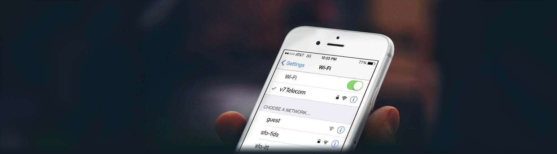 Conexões WiFi - V7 Telecom